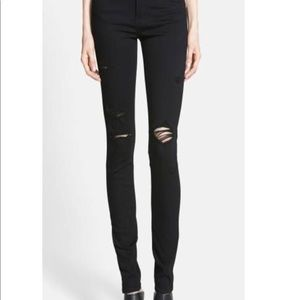 Paige black destroyed jeans
